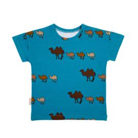 Malinami - T-Shirt Camel on Turquoise