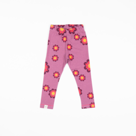 Alba of Denmark - Haniella Leggings Bordeaux Flower Power Love