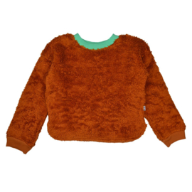 Baba - Cath Sweater Jacquard Pluche Brown