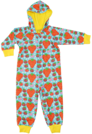Duns Sweden - Strawberry Field Light Turquoise Hooded Onesie