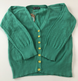 Chat Mechant - Groene Cardigan 122/128
