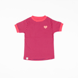 Alba of Denmark - Bella T-Shirt Raspberry Magic Stripes