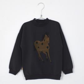 Lötiekids - Sweatshirt Horse Vintage Black
