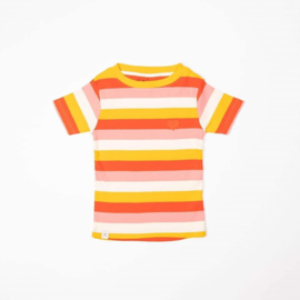 Alba Of Denmark - The Bell T-Shirt Strawberry Ice Stripes Stripes
