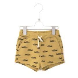 Lötiekids - Shorts Fishes Sun Yellow