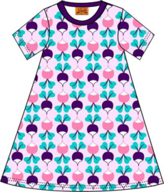 Duns Sweden - ADULT SS Big Radish Purple  A-line dress