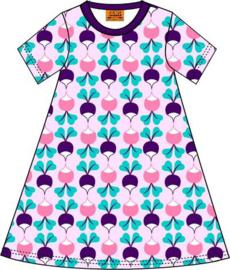 Duns Sweden - ADULT SS Big Radish Purple  A-line dress