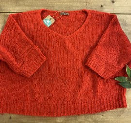 Black Rose - Cropped Knit Red One Size