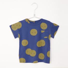Lötiekids - T-Shirt Shortsleeved Moons Indigo Blue