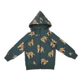 Malinami - Zip Up Hoodie Jaguar on Dark Green