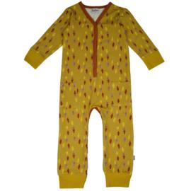 Baba - Bodysuit Brushed Fleece Funny Squares