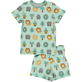 Maxomorra - Pyjama Set Short Sleeve Slim Jungle