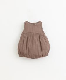 Play Up - Short Cloth Jumpsuit Pinha