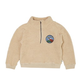 Carlijn Q - Teddy Sweater with Zipper and Embroidery Mountain Air