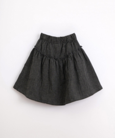 Play Up - Cotton Skirt with Vichy Pattern Frame