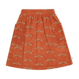 CarlijnQ - Midi Skirt with Pockets Have Fun