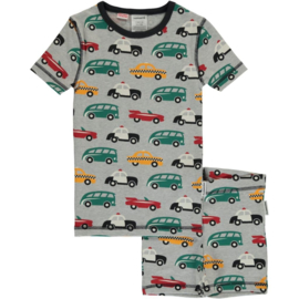 Maxomorra - Pyjama Set Short Sleeve Slim Traffic