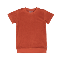 CarlijnQ - Basic Sweater Short Sleeve Cinnamon