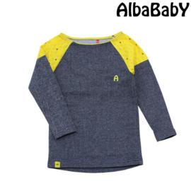 Alba - Franciska Dress Grey/Yellow Triangle