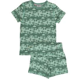 Maxomorra - Pyjama Set Short Sleeve Jungle Landscape
