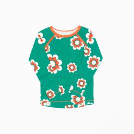 Alba of Denmark - Ghita  Blouse Pepper Green Flower Heaven