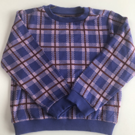 Lily Balou - Purple Checked Mika Sweater 98