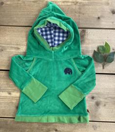 Alba - Green Oldie Hood Blouse 74/80