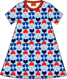 Duns Sweden - ADULT SS Big Radish Blue A-line dress