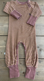 Alba - Hedigby Playsuit Old Rose Striped 80