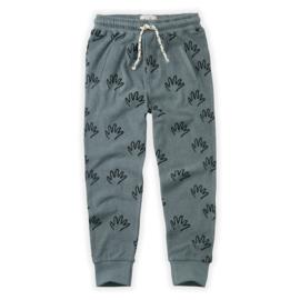 Sproet & Sprout Capsule - Jog Pants Happy Hands Stone Blue