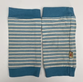 Alba - Legwarmers Blue Stripes 6/7 jaar
