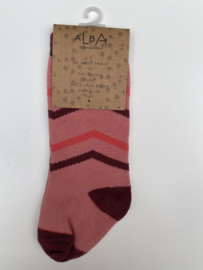 Alba - Annie Knee Socks Rose Tan 19/21