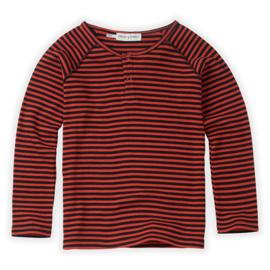 Sproet & Sprout Capsule - Grandad T-Shirt Stripes Grenadine