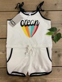 Ammehoela - Playsuit Ocean Off-White 86/92