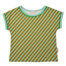 Baba Kidswear - Multicolor T-Shirt Girls Diagonal Blue