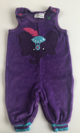 Freds World - Purple Elephant Velours Dungaree 68/74
