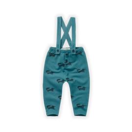 Sproet&Sprout - Suspenders Pants Fox Pine Green