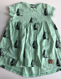 ZZZ- Mint Sailing Boats Dress 92/98