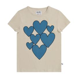 CarlijnQ - T-Shirt with Print Hearts