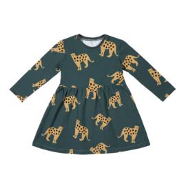 Malinami - Longsleeve Dress Jaguar on Dark Green