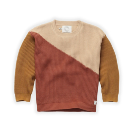 Sproet&Sprout - Sweater Colourblock Nougat