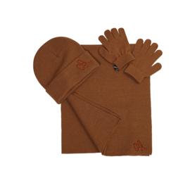 Carlijn Q - Beanie Scarf Glove Set Chipmunk