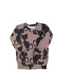 Dear Sophie - Brown Cat Jersey Longsleeve