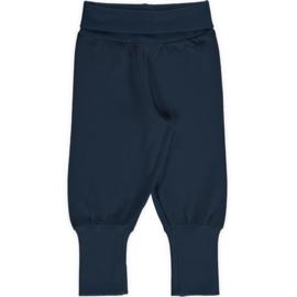 Maxomorra - Pants Rib Solid Navy