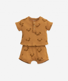 Play Up - Pyjama's in Organic Cotton with Buttons Hazel