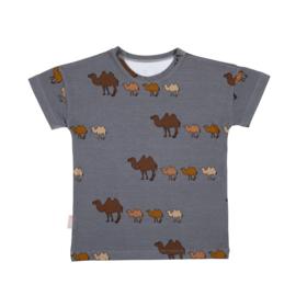 Malinami - T-Shirt Camel on Dark Grey