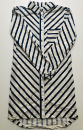 Atracktion - White/Navy Striped Dress 140
