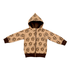 Malinami - Monkey Zip Up Hoodie