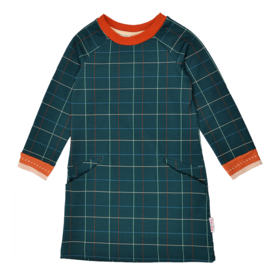 Baba - Pocket Dress Checked Blue