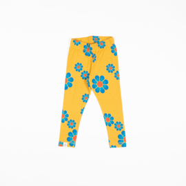 Alba of Denmark - Haniella Leggings Bright Gold Flower Power Love